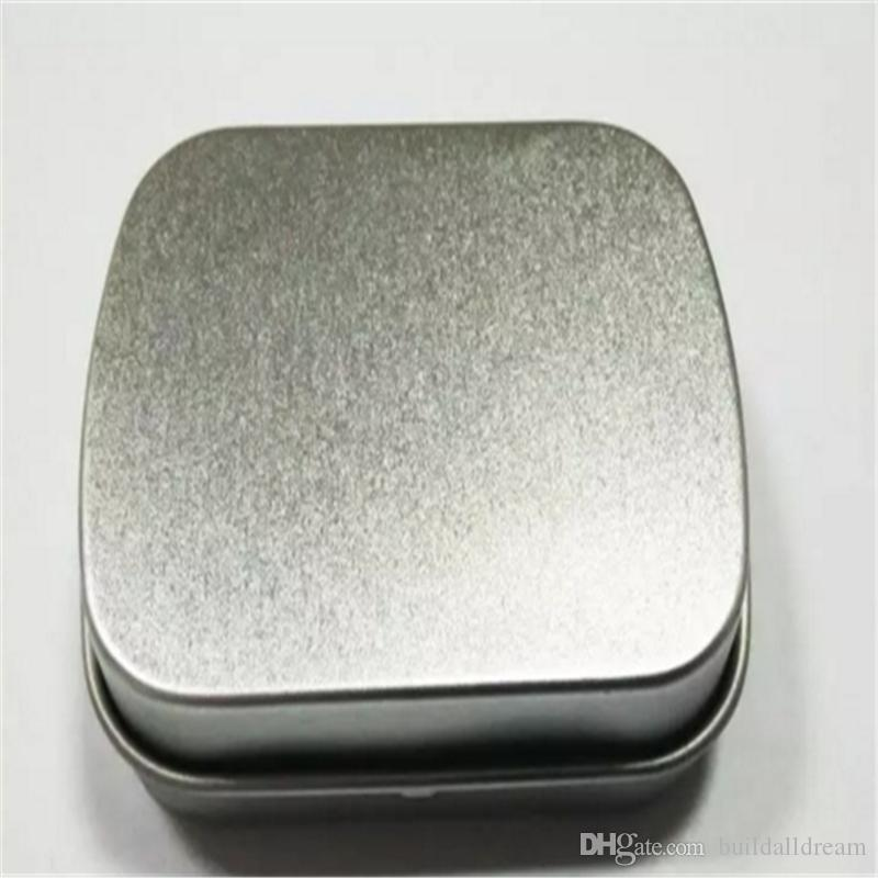 Small size hinge tin box square tin silver gift box sealing plain tin wedding candy boxes a869-a875