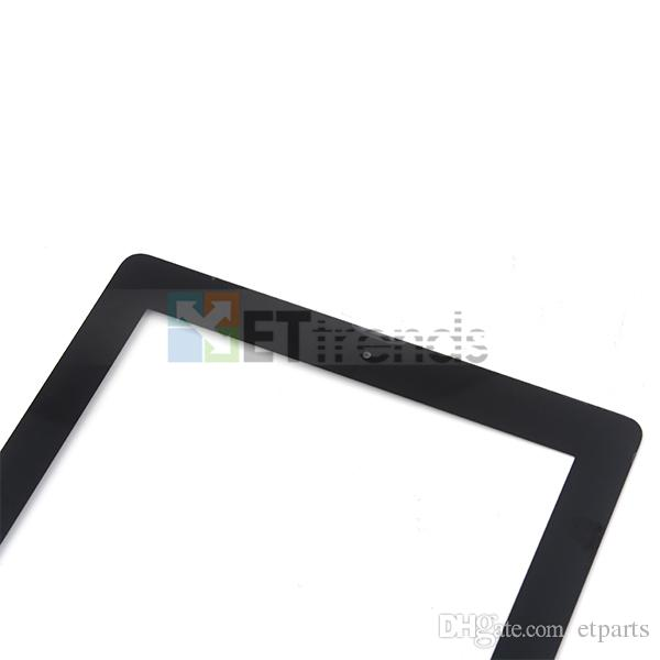 Factroy Price! for iPad 2 Touch Screen Glass Digitizer Assembly with Home Button & 3M Adhesive Replacement Repair Parts AA0460