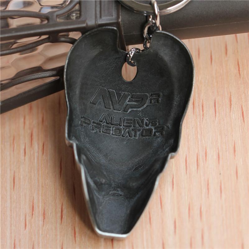 Moive Alien vs Predator Mask keychain Alloy Silver Key Rings Car Keychain Jewelry Europe Hot Sale