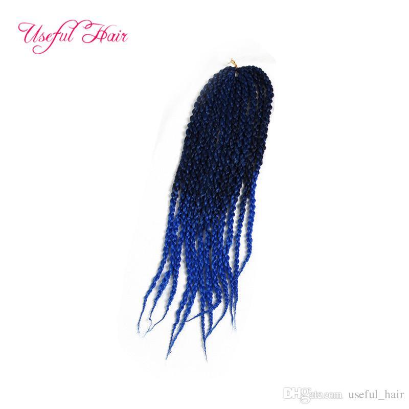 бесплатно shippiing 3d Cubic Twist крючка плетенка Extensions волос 22inch оптовый 6-8 шт полной головы Kanekalon Гавана твист плетеный в пачках