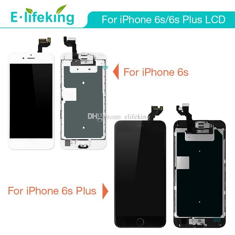 아이폰 6s 6SPlus LCD 디지타이저에 대 한 우수한 품질 홈 버튼 카메라와 함께 검은 흰색으로 화이트 화면 어셈블리