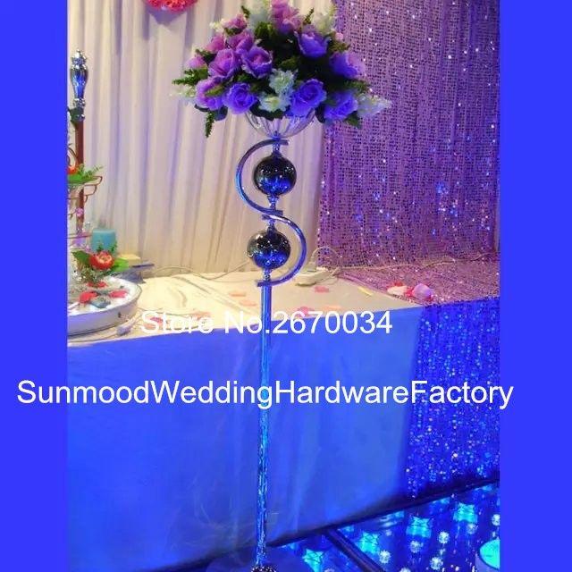 Wholesale mental iron flower vase/Flower stand for table, Flower vase for wedding decoration centerpieces