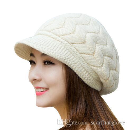 Элегантный женский зимний меха кролика Hat Женский осень вязаные шапки осень и зима дамы Теплый и мягкий искусственный Кролика Hat