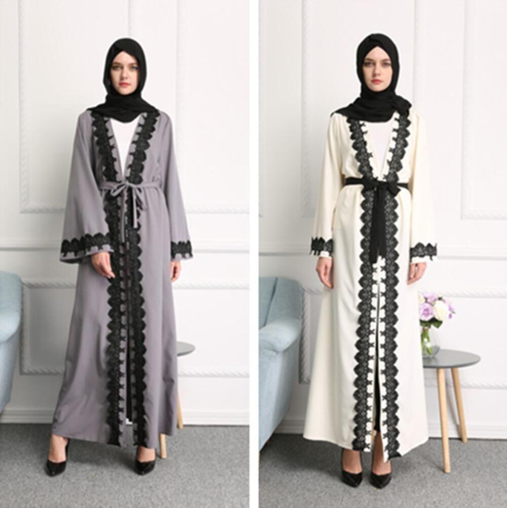 Ihram Kids For Sale Dubai: 2019 Muslim Women Lace Abaya Dress Robe Musulmane Ramadan