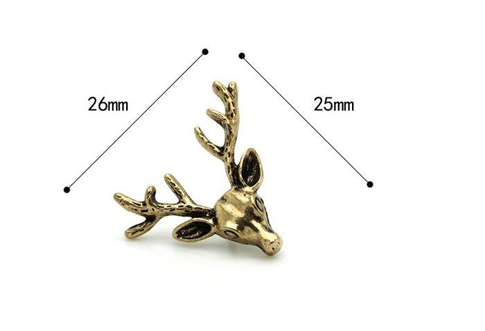Nueva Moda Personalidad Elk Metal Needle Shirt Collar Hombres Y Mujeres Fawn Traje Vestido Broche Collar Insignia