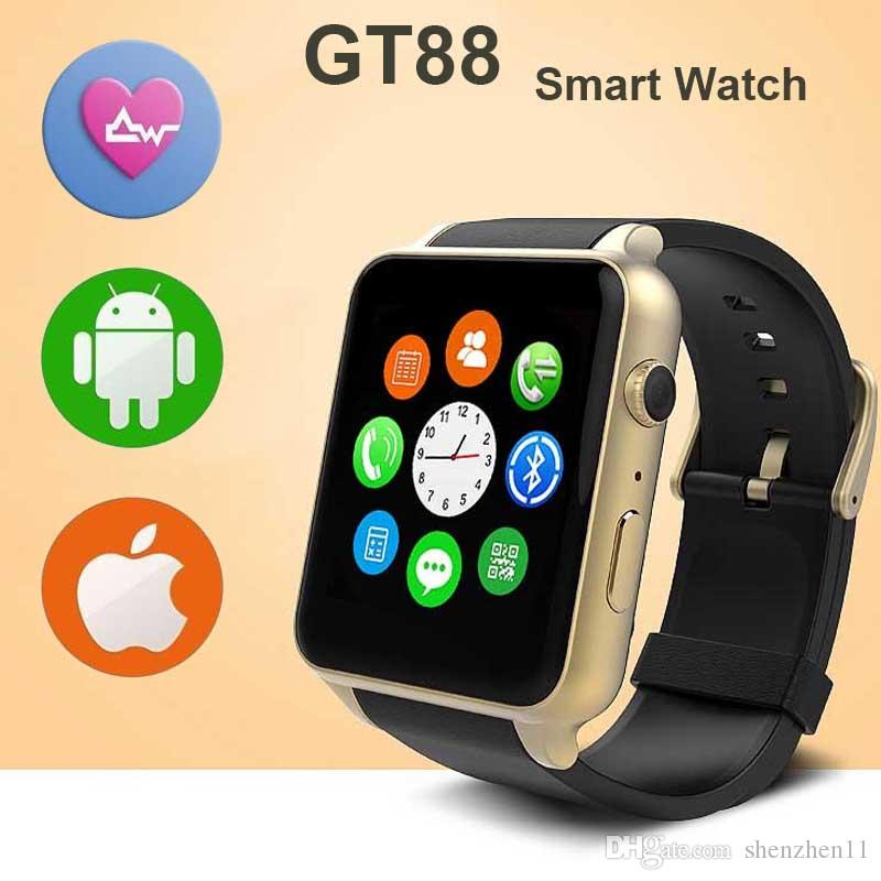 52074f74ff3 SIM Card Bluetooth Sports GT88 Smart Watch With Heart Rate Monitor And  Wristwatch Phone Mate Independent Smartphone For Android IOS OTH332 Smart  Wrist Watch ...