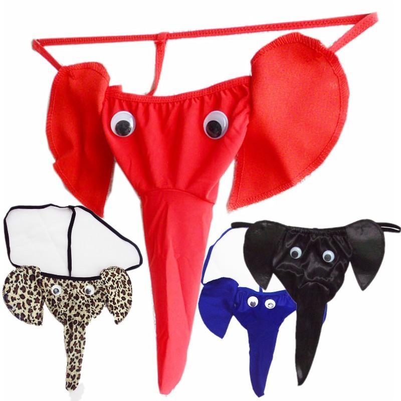 1f5f62b3b Compre Cuecas Dos Homens Elefante Tanga Dos Desenhos Animados Sexy T Calças Sexy  Cueca Cueca Atacado Roupa Interior Elefante De Youareyou