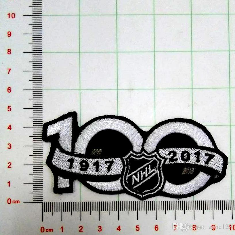 7fca79d45 2019 National Hockey League NHL 2017 Seaso Patch 100th Anniversary Jersey  Sleeve Logo Emblem Stanley Cup Embroidery Applique From Aone123