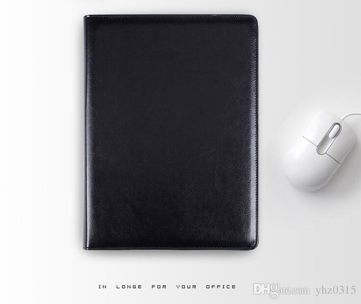 Бизнес-ноутбук Многофункциональный с деньгами / Билл случаях искусственная кожа Padfolio с A4 буфер обмена Блокнот офис организатор фолианты