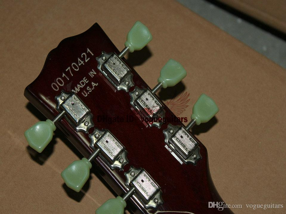 Custom Shop de una pieza con cuello traste sl ceniza Guitarra eléctrica Nuevo estilo Envío gratuito