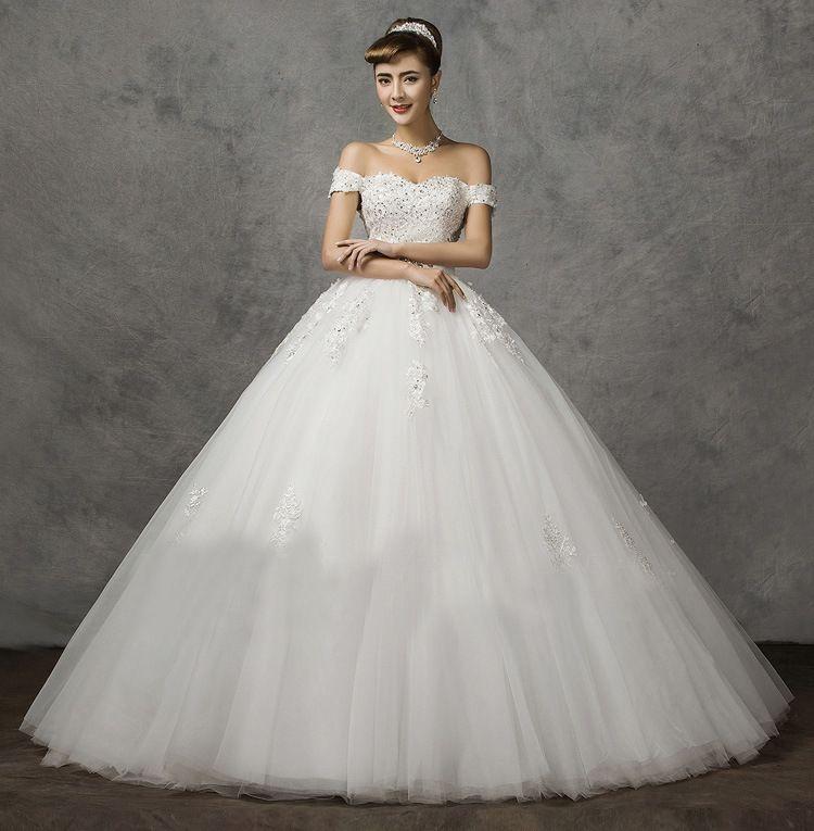 Großhandel Ballkleid Romantische Prinzessin Hochzeits Kleid Plus ...