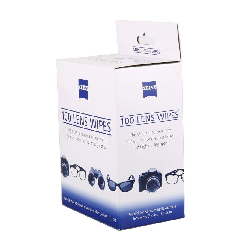 Wholesale- 100 Zeiss Pre-moistened Lens Cleaning Cloths Wipe Glasses  Optical Camera Cleaner