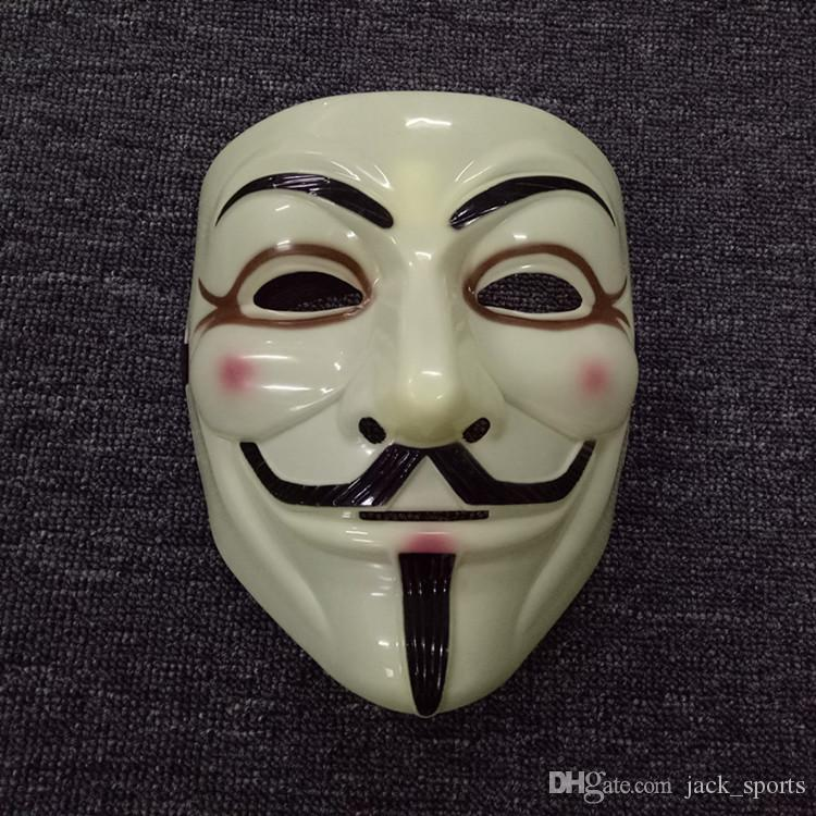 Free Shipping High Quality Adult Fashion V- Vendetta Mask Decorative Props Full Face Halloween Party Masks