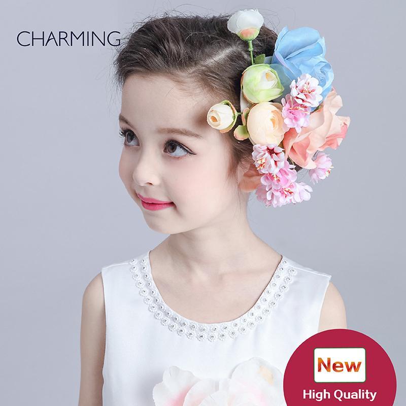 Grosshandel Haarblume Schone Kinder Schonheitswettbewerb Und Hochzeit
