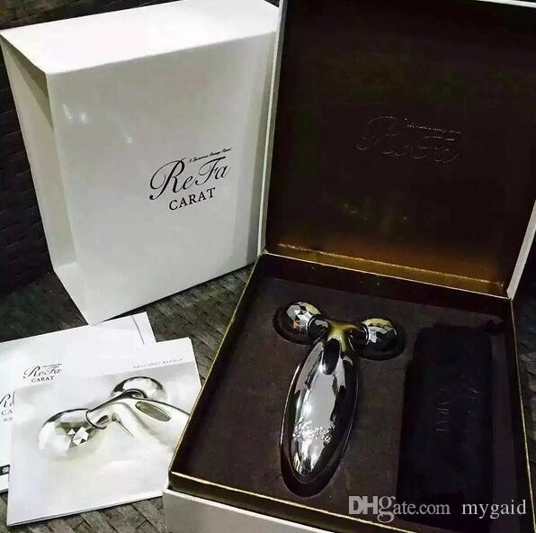 MTG ReFa CARAT PEC-L1706 Platinum Electronic Roller Japan Model New Personal Face Full Body Massager Beauty Equipment gift