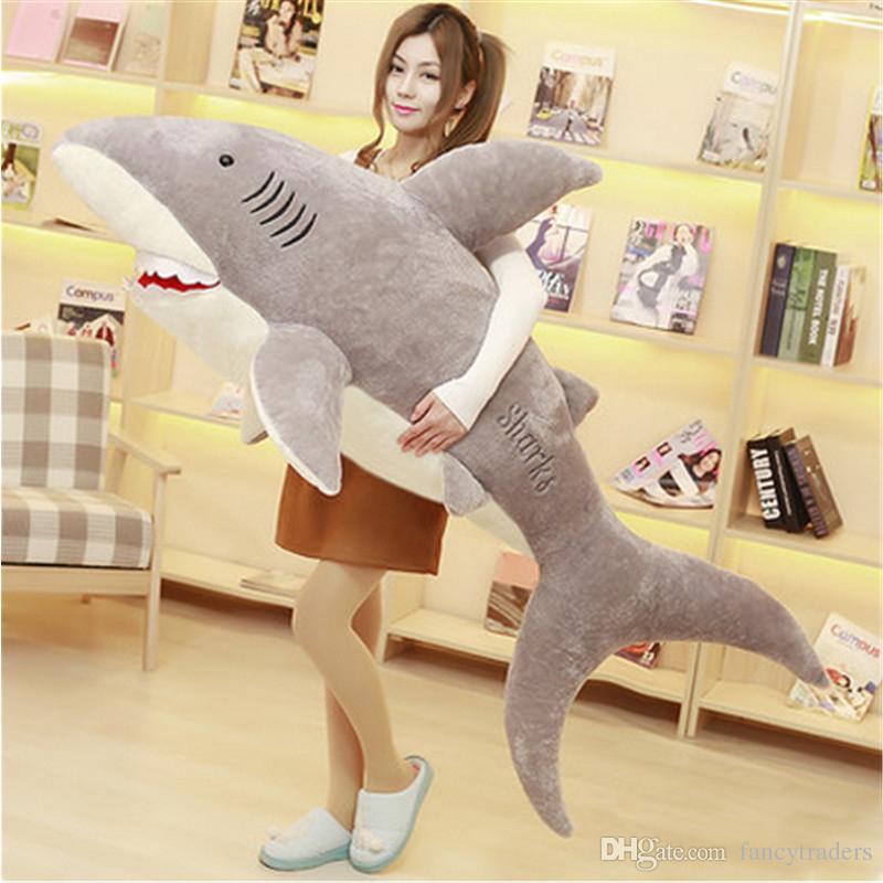 Giant Stuffed Shark 2017 fancytrader giant plush animals shark toys big stuffed fluffy