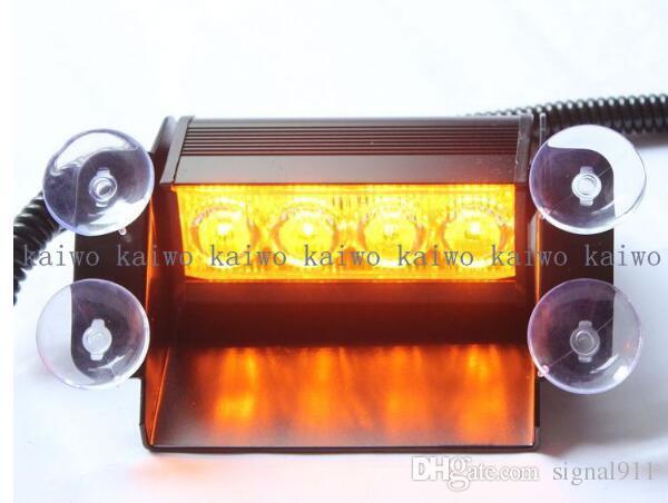 High quality DC10-30V 4W led car windshield warning lights,strobe lights,police dash emergency light