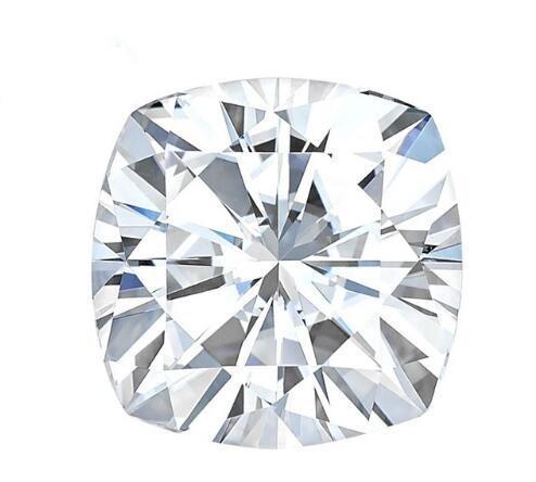 Brilliant F Color 8 8mm White Moissanite Stones Cushion Cut Synthetic Loose Moissanite Gemstone Beads Diamond Test Positive