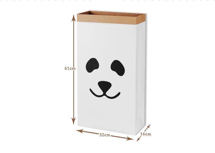 61x32x16 CM 30 disegni Kraft Borse laminate riciclare Lavanderia Giocattolo Organizzatore Sacchetto di immagazzinaggio in carta Home