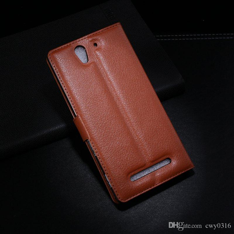 outlet store bbe0c 8a640 For Sony C3 Leather Case High Quality J Wallet Case For Sony Xperia C3  D2533 D2502 S55T S55U Flip Cover with Stand