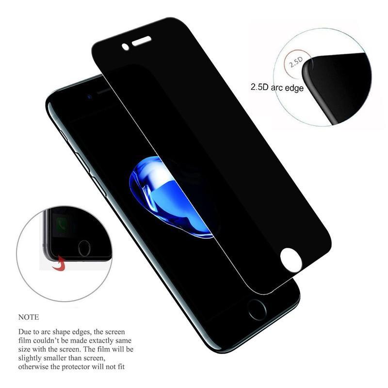 Anti Spy Film de protection écran pour Apple iPhone XS Max XR iPhone 11 Pro Max 8 Plus 6 6s 7 Plus SE 2020 Confidentialité Verre Trempé Anti Glare