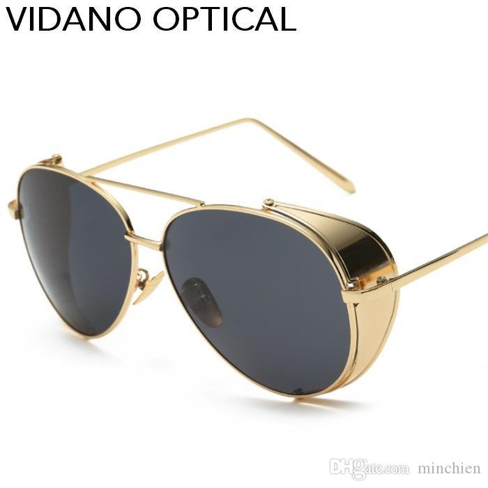 a1253a110048 Sunglasses   Sunglasses Accessories Classic Retro Mens Fashion Metal PILOTs  Vintage Designer Sunglasses Black c