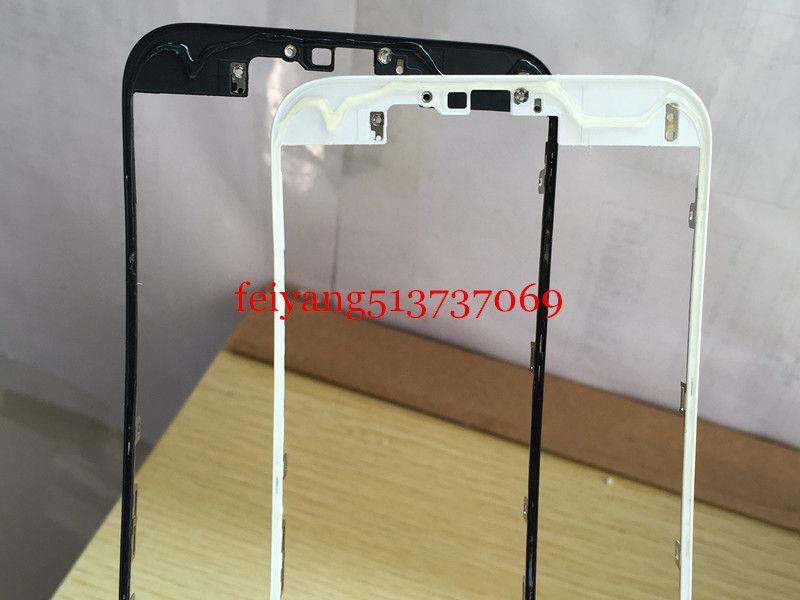 iPhone 4 4S için Kaliteli Sıcak tutkal Siyah / Beyaz Ön Çerçeve 6 6s 7 artı LCD Orta Çerçeve Konut Parçaları Krom Ekran Holde 5c 5 5s