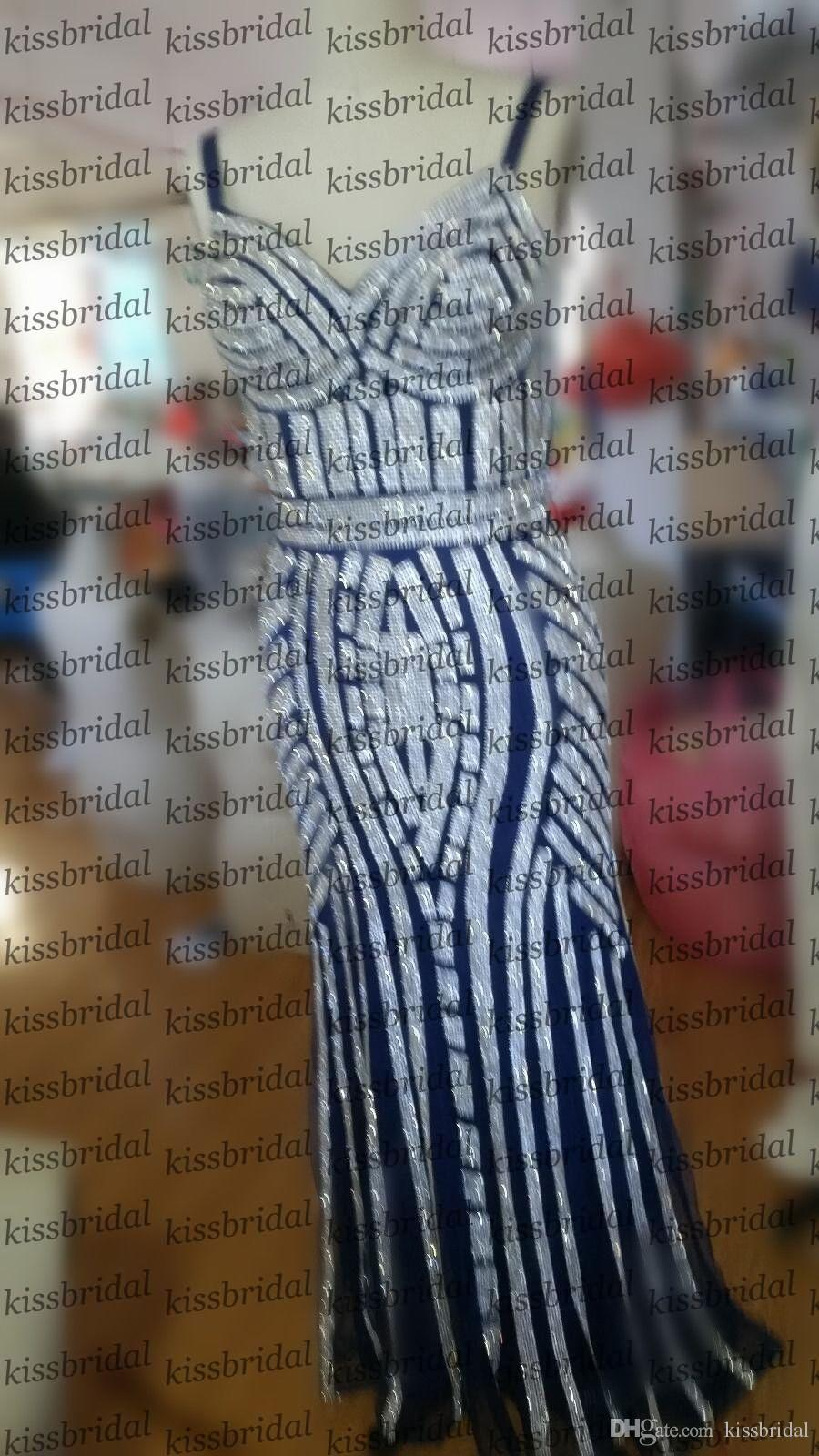 2017 Sexy Fitted Mermaid Evening Dresses Sweetheart Spaghetti Straps Blinbgbling Sequins Vestidos De Fiesta Real Photo Prom Party Gowns