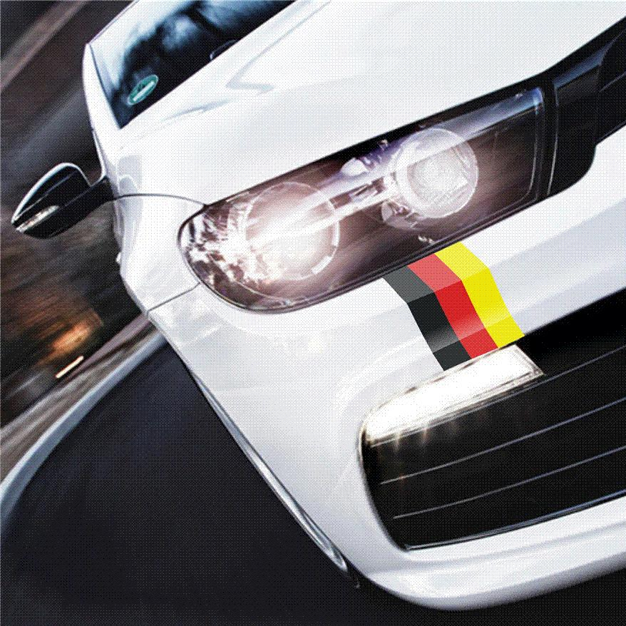 Car styling cool racing vinyl wrap car stickers and decals vinyl german flag auto accessories for audi bmw volkswagen polo golf wholesale car sticker car