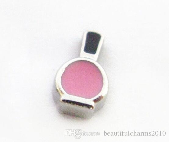 20 шт. / Лот розовый лак для ногтей бутылка с плавающей медальон прелести, пригодные для жизни магнитной памяти медальон ювелирные изделия
