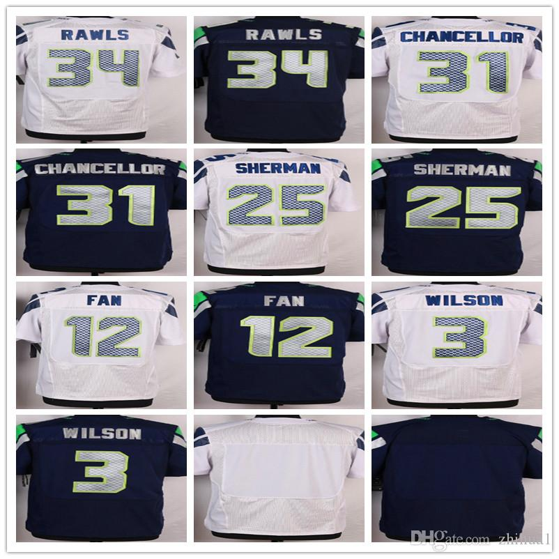 72ace38ee ... Jersey 2017 Rush Legend 3 Russell Wilson 34 Thomas Rawls 31 Kam  Chancellor 25 Richard Sherman Doug ...