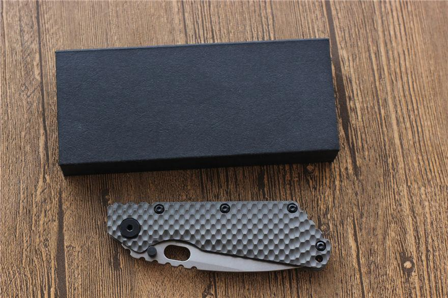 MIKER SMF Folding Knife D2 blade Carbon fiber Titanium handle Copper washer hunting knifes outdoors utility Knives top EDC Tools