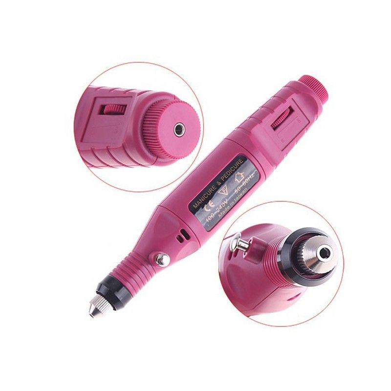 Hot Vente mini-ponceuse électrique Broyage Ponceuse stylo machine Gundam ongles Outils de polissage kits de nail art de haute qualité