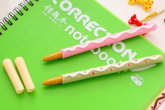 البسكويت شكل قلم اللوازم المكتبية kawaii القرطاسية الرول الكرة القلم القرطاسية القرطاسية اللوازم المدرسية G651