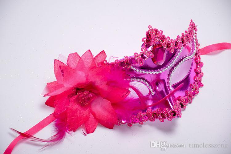 Boncuk Zincir Büyük Gül Çiçek Maske Parti Topu Masquerade Maskeleri İtalyan Venedik Venedik Maske Kadın Lady Düğün Dekorasyon