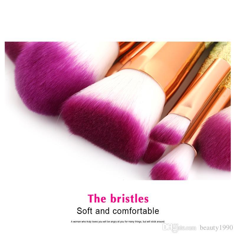 Makeup Brushes Mermaid Shape Handle Design Blush Powder Eyeshadow Eyebrow Eyeliner Eyesocket Nasal Fan Make Up Brush Cosmetic Tool
