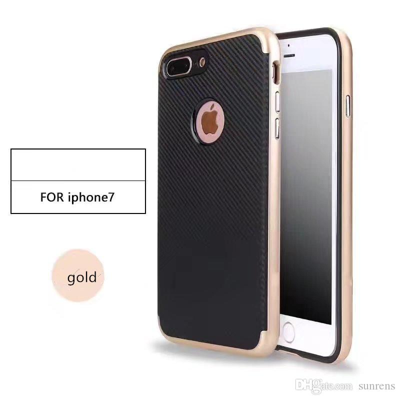 2 in 1 Ultra Thin Slim TPU Shockproof Protective Anti-Scratch Case Coated Carbon Fiber Finish Surface with PC Hard Frame for iPhone X