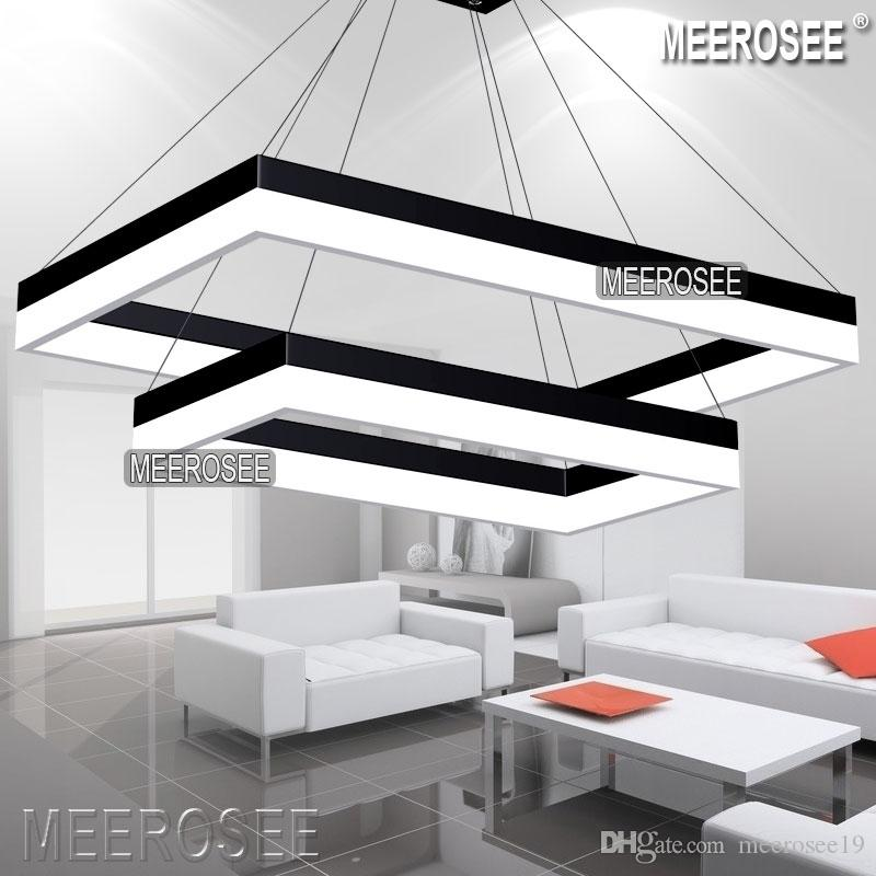 Modern Led Pendant Light Modern Rectangle Black Hanging Pendant
