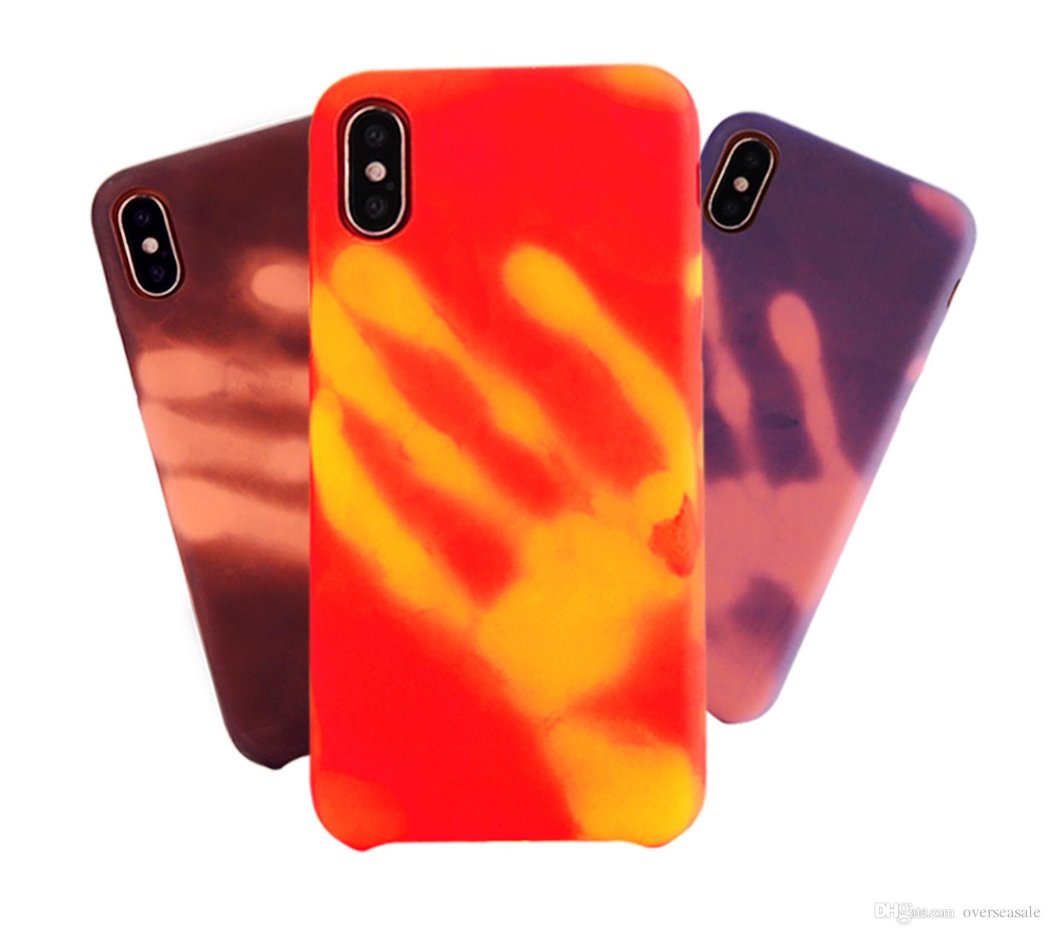 For IPhone x 8 7 7Plus 6 6S Plus Case Thermal Sensor Funny Back Cover Physical