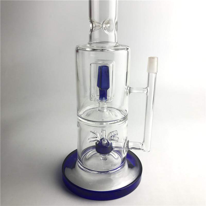 New 14mm Colorful Bong Glass Water Pipes with 14.5 Inch Nectar Collector Fountain Filter Thick Recycler Heady Beaker Bongs
