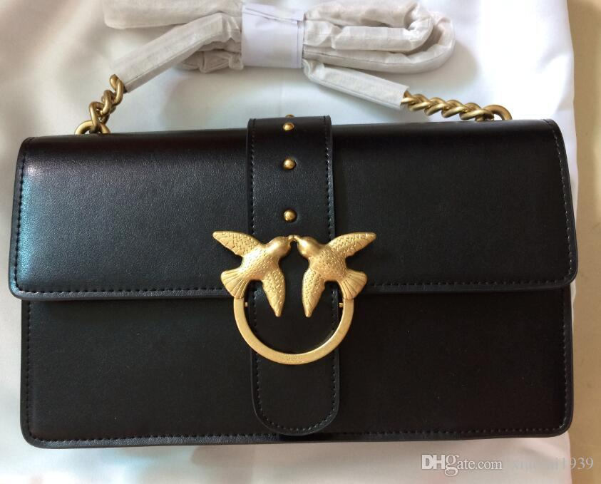 watch 07fb8 114dc 100% Real Pictures Pinko Genuine Leather Handbag Women'S Bag Crossbody Bag  Luxury Brand Brand Black Shoulder Bags Europe Style Man Bags Crossbody ...