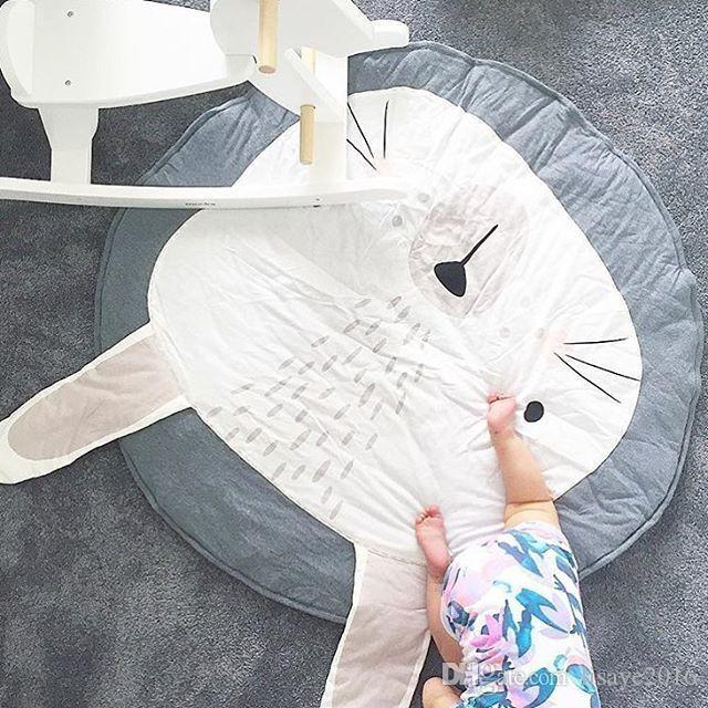 INS Fashion Europe Baby lion rabbit pattern rugs lovely for gril boys room playmats Carpet Crawling mat game quilt cartoon nursery furniture