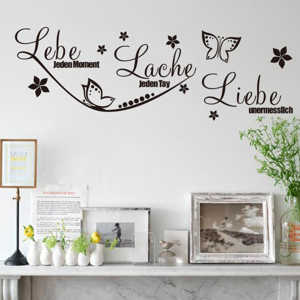 &* The New Lebe Butterfly Diy Wall Stickers Living Room Bedroom Wall ...