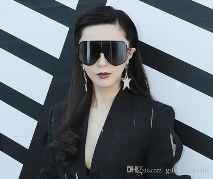 Fashion Oversized Men Polarized Face Sunglasses Women Sun Shades Big Black  Glasses Statement Eyeglasses Siamese Style Sunglasses Baby Sunglasses  Designer ... f32a9e9c9