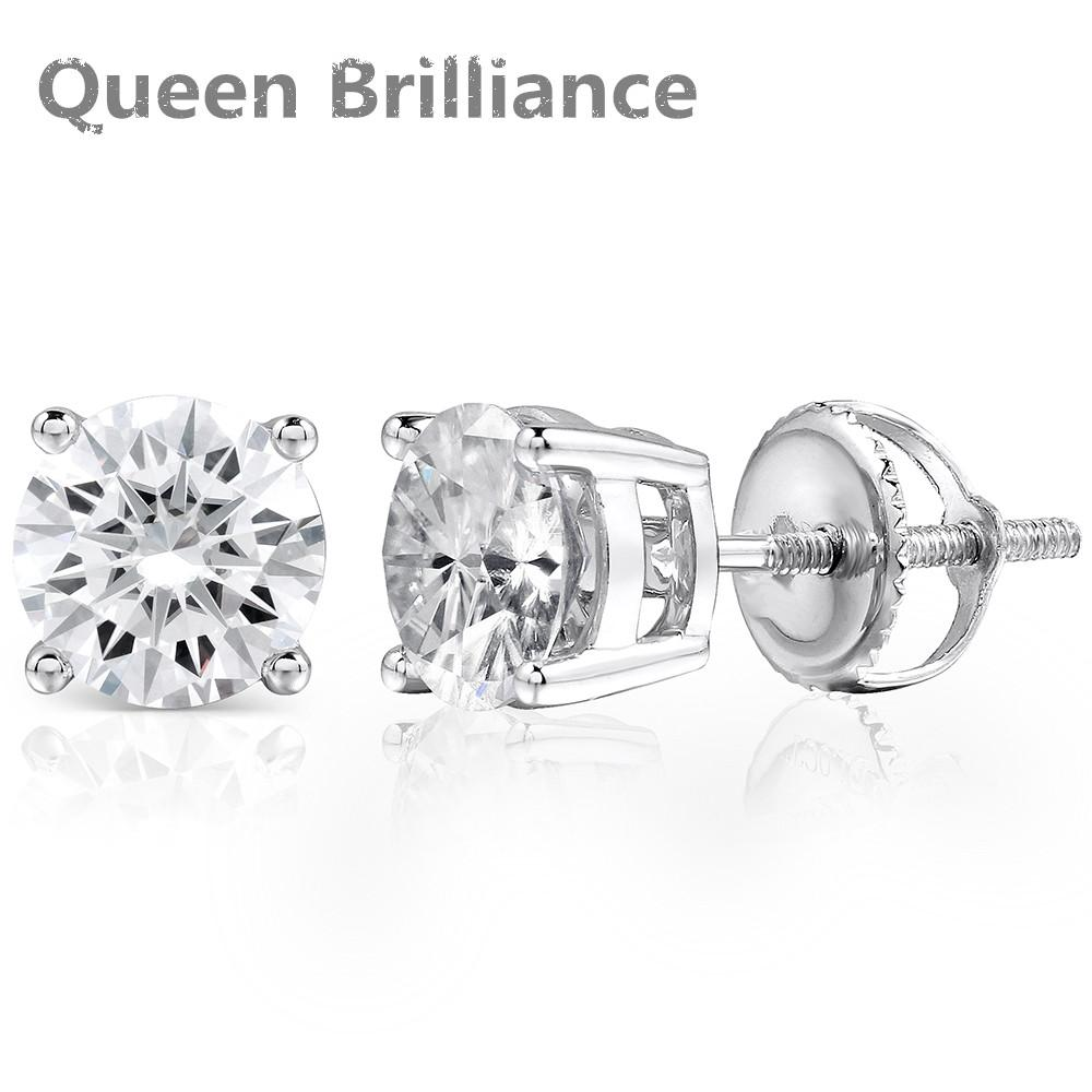 894c0131b 2019 1ctw Pair Lab Grown Moissanite Diamond Studs Earring Screw Back  Genuine 925 Sterling Silver Plus High Quality For Women Jewelry Q171026  From Shen8409, ...