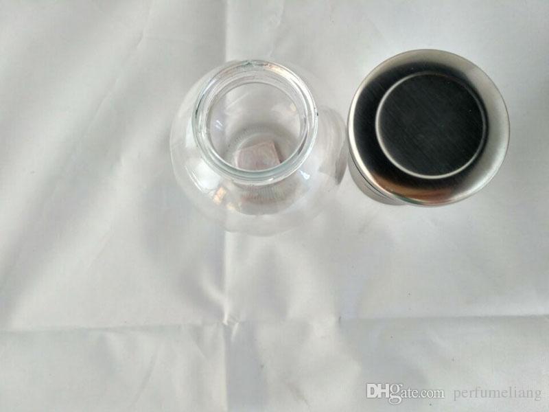 Moulin à sel en acier inoxydable et moulin à poivre en verre rond corps moulin rotor en céramique outil de cuisine pratique ZA5360