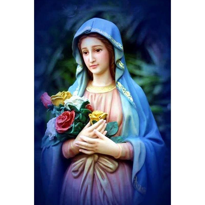 Satın Al 2017 Güzel Anne Mary Diy Elmas Boyama 5d Elmas Mozaik