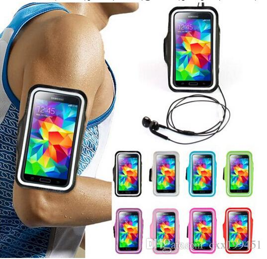 Waterproof 팔 밴드 스포츠 체육관 러닝 완장 보호자 소프트 파우치 케이스 커버 iphone 5 6 플러스 삼성 갤럭시 참고 3 S3