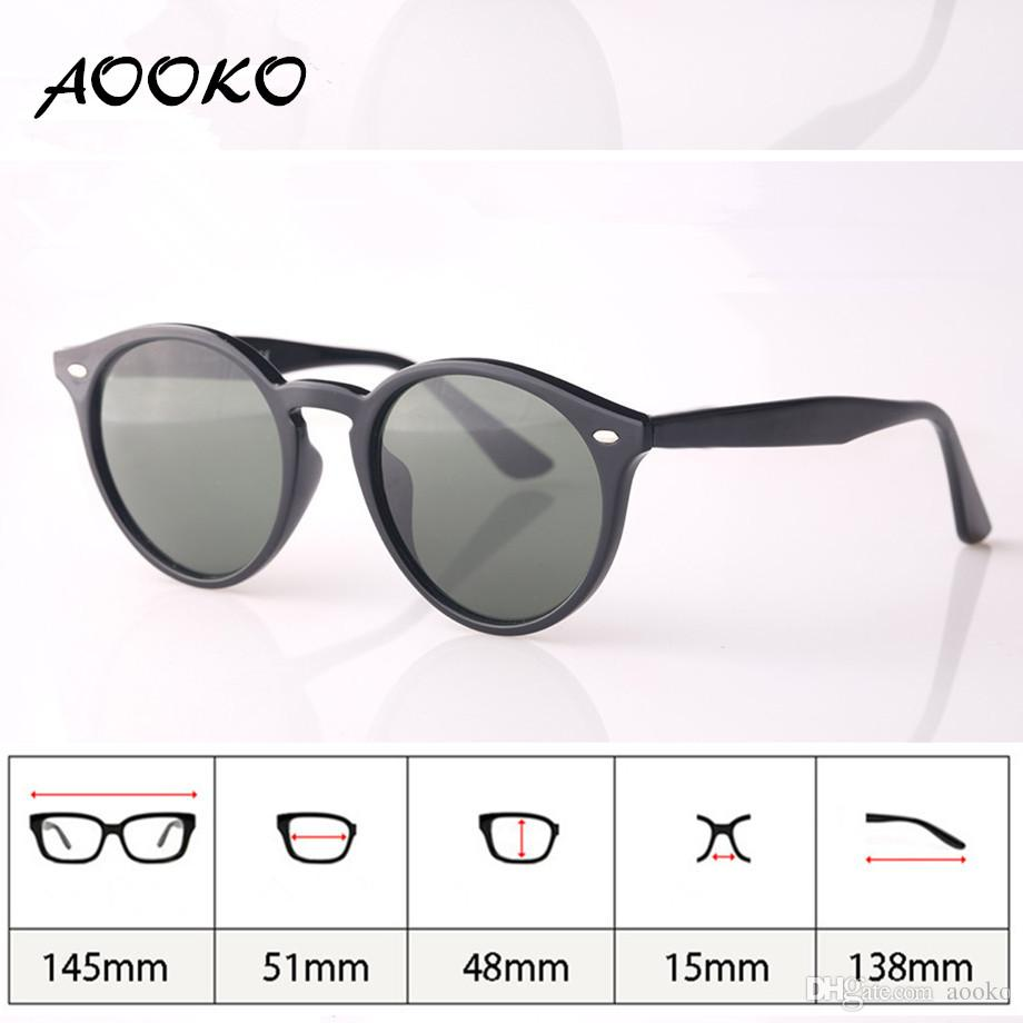 074e5a73545d AOOKO 2017 Hot Fashion Retro Vintage 51mm Round Gradient Sunglasses Men  Women Brand Designer Lunettes Oculos De Sol Sun Glasses With Case Suncloud  ...