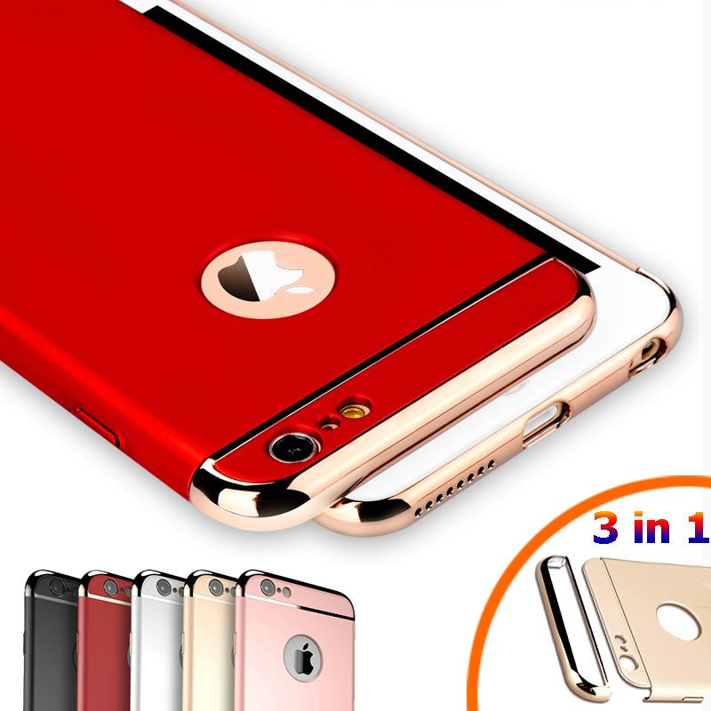 ad186deda6 Luxury Royal Gold Metal Plating Hard Case For IPhone 7 6 6S Plus 5s SE 3 In  1 Back Cover For IPhone 6 7 6S Capa Coque Funda Custom Phone Cases Phone  Cases ...